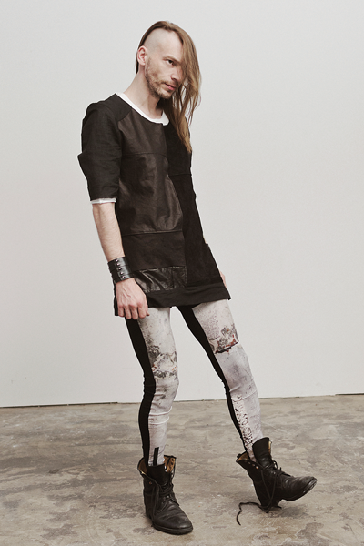 CIRCUS of FASHION SS2014 JuliaandBen leather shirt | leggings Foto Damien Vignaux