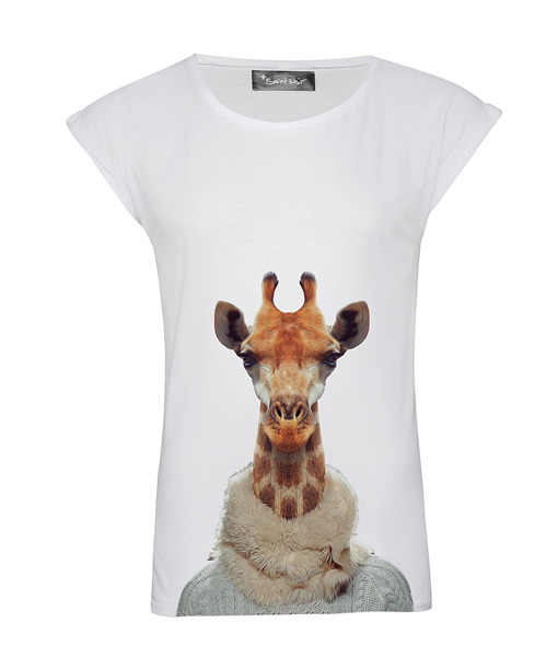 CIRCUS of FASHION SS2014 Saint Noir Rolled Sleeve Woman Giraffe