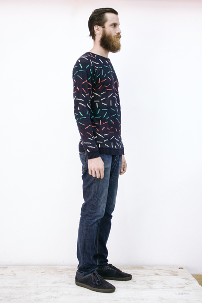 CIRCUS of FASHION Potipoti Men Stripes Pullover Foto Maya Kapouski