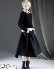 CIRCUS of FASHION ANTONIA GOY AW2014_15 Foto Schah Eghbaly Angora Sweater Cotton Blouse Structured Woollen Skirt 10
