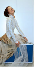 CIRCUS of FASHION Mode aus Berlin Kaska Hass AW 2014_15 Braut Spitzenkleid Serenissima Foto Ron Gerlach