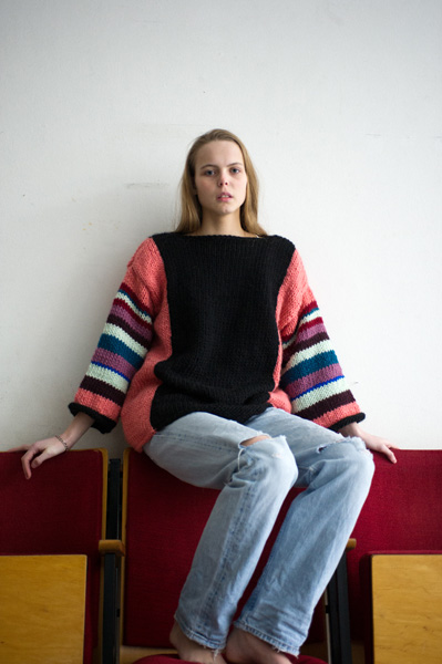 CIRCUS of FASHION Mode aus Berlin Maiami AW 2014_15 Foto Kristin Loschert Kimono Sweater