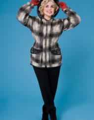 CIRCUS of FASHION Mode aus Berlin Frozen Hibiscus AW2014 Foto P. Burbank Wendejacke Erica kariert Loni Pant10
