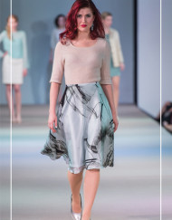 CIRUCS of FASHION Mode aus Berlin Berlina Pflanze by Inga Lieckfeldt - Foto KOWA-Berlin.com - Mohair Pullover l Silk Skirt Graphic Mint