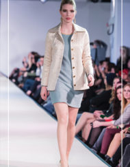 CIRCUS of FASHION Mode aus Berlin Berlina Pflanze by Inga Lieckfeldt - Foto KOWA-Berlin.com - Quilted Jacket Goldrush